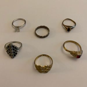 6 Vintage Ring Set